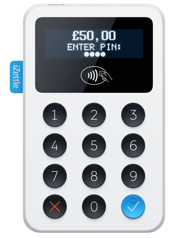 iZettle credit card  and contactless reader