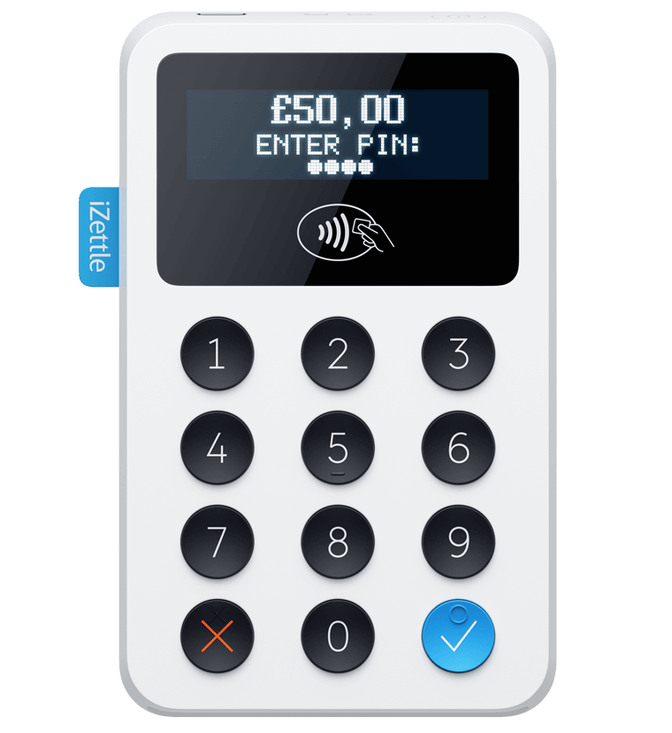 iZettle credit card reader for ipos