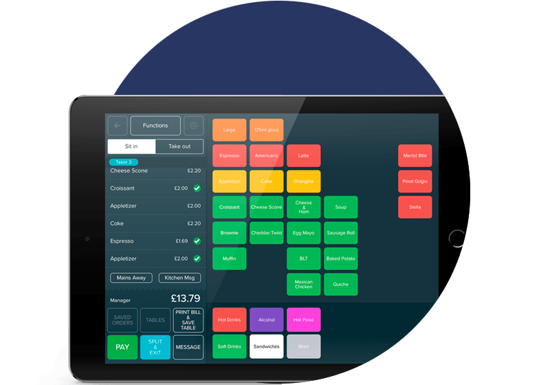 izettle for restaurants, bars and cafes