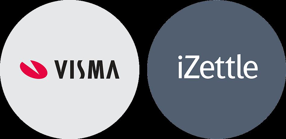 iZettle Visma Partner app logos