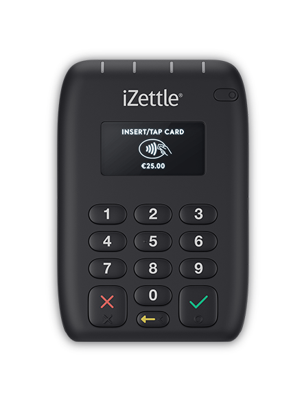 iZettle Pro Contactless connects wirelessly to your tablet or smartphone, and can read magstripe and chip cards, and also accept contactless and Apple Pay payments,