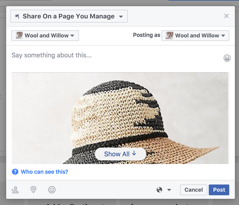 how to sell your product through facebook