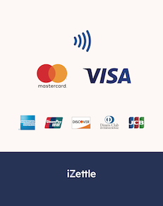 photograph relating to We Accept Credit Card Signs Printable titled iZettle Assistance - Signage towards clearly show yourself take card charges