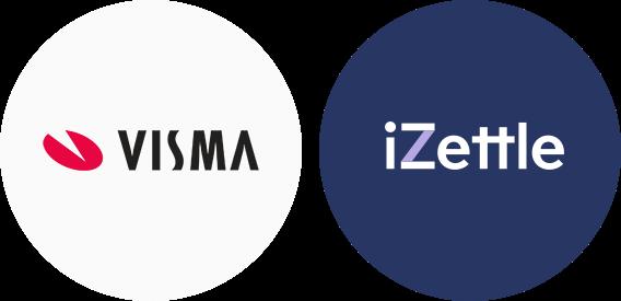 iZettle Visma Partner apps logos