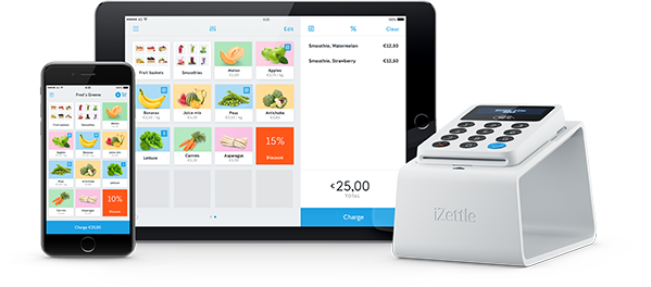 The free iZettle app is the powerful tool